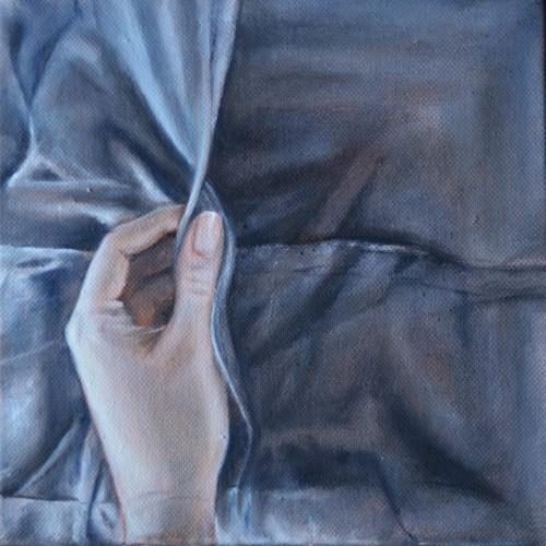 Realistisch schilderij hand