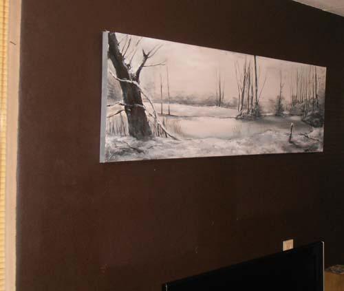 Winterlandschap realistisch Desiree Verkerk kunst