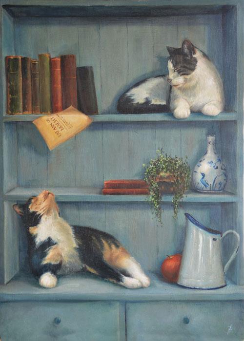 Realistisch schilderij Verkerk fijnschilder realistische kunst genreschilder