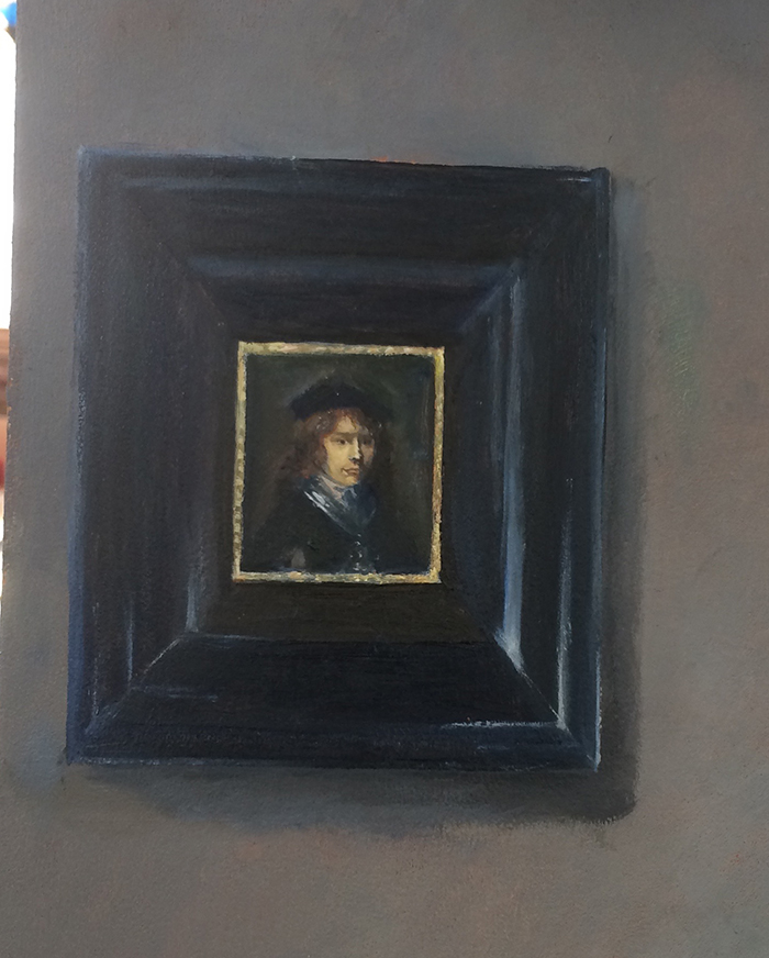 Gerrit-Dou-1,5 cm verwerkt in schilderij