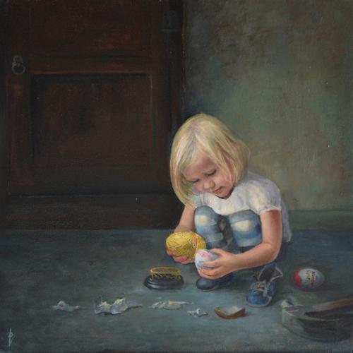 Hebzucht 7 zonden serie, portretschilder