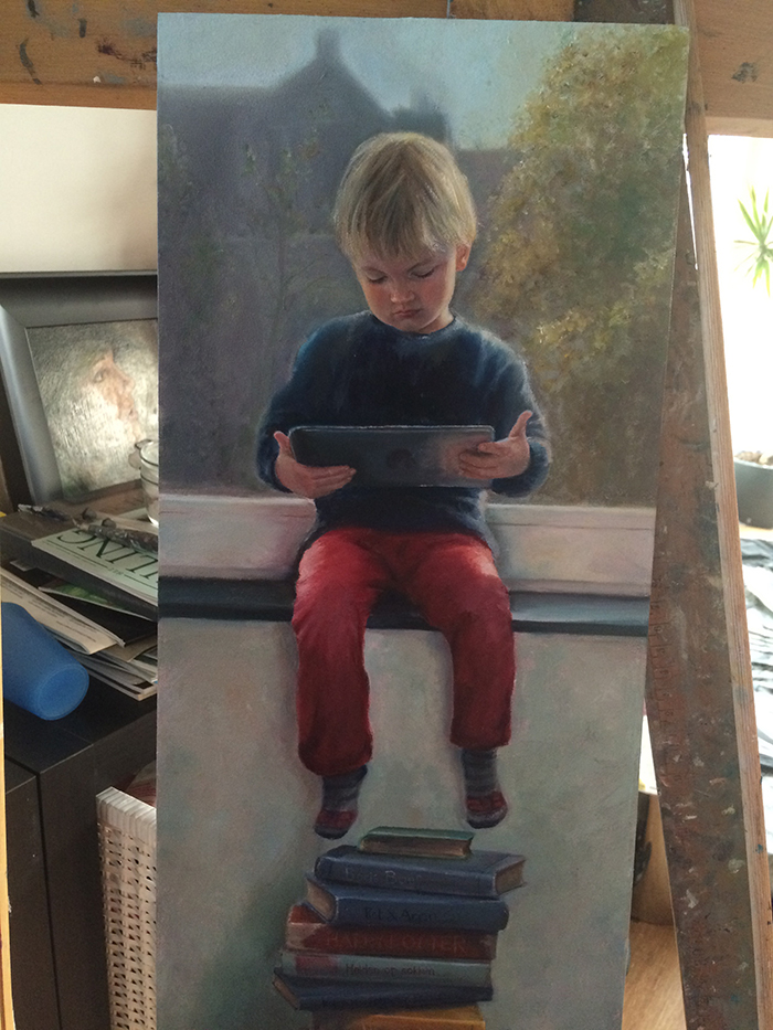 painting boy iPad