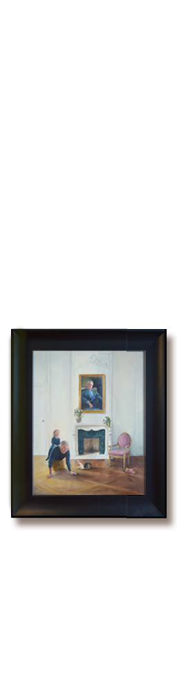 Realistisch-schilderij_opa en kleinkind, portretschilder