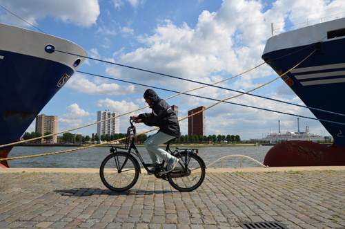 arjan op de fiets