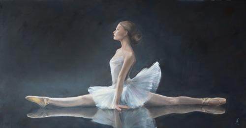 Schilderij Ballerina spagaat