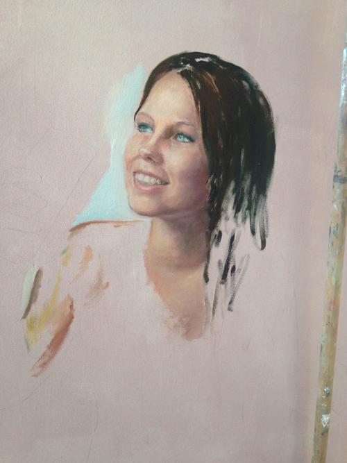 schilderij proces Desiree Verkerk