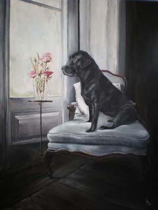 Boris Verkerk Desiree Verkerk hond op stoel