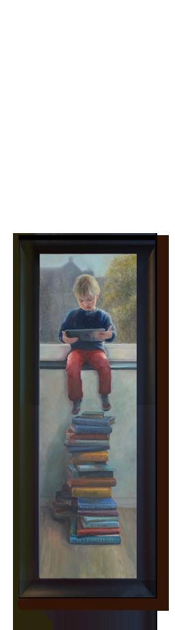 realistisch schilderij tablet, portretschilder