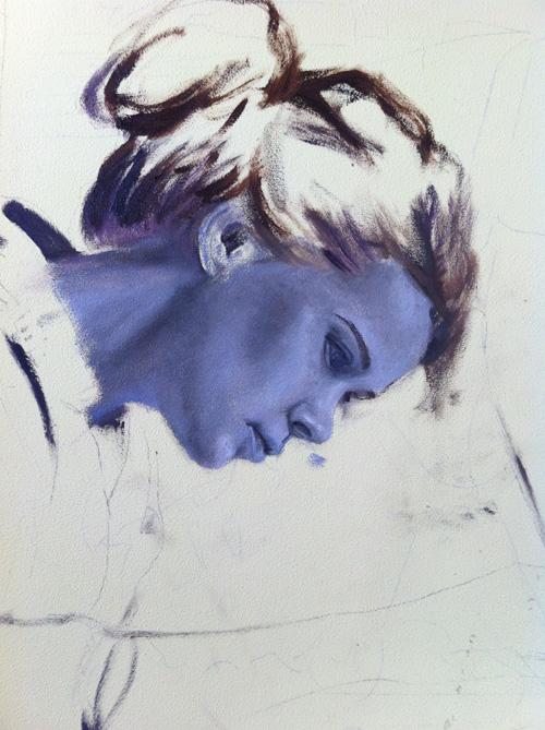 gezicht blauw