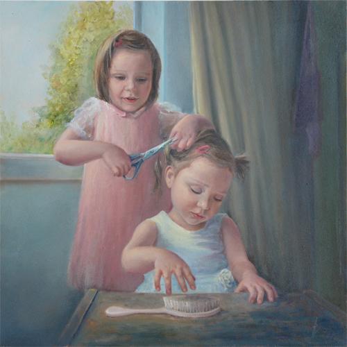 schilderij olieverf, realisme, 7 zonden