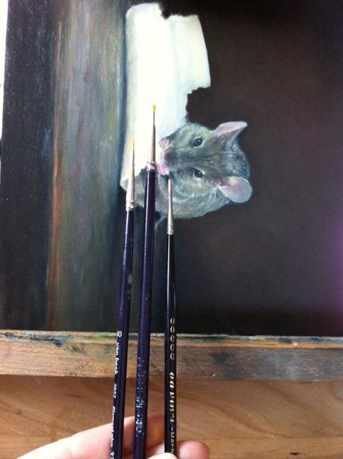 schilderij, muis