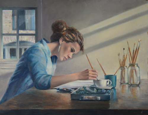 Desiree Verkerk kunst schilderij koffie