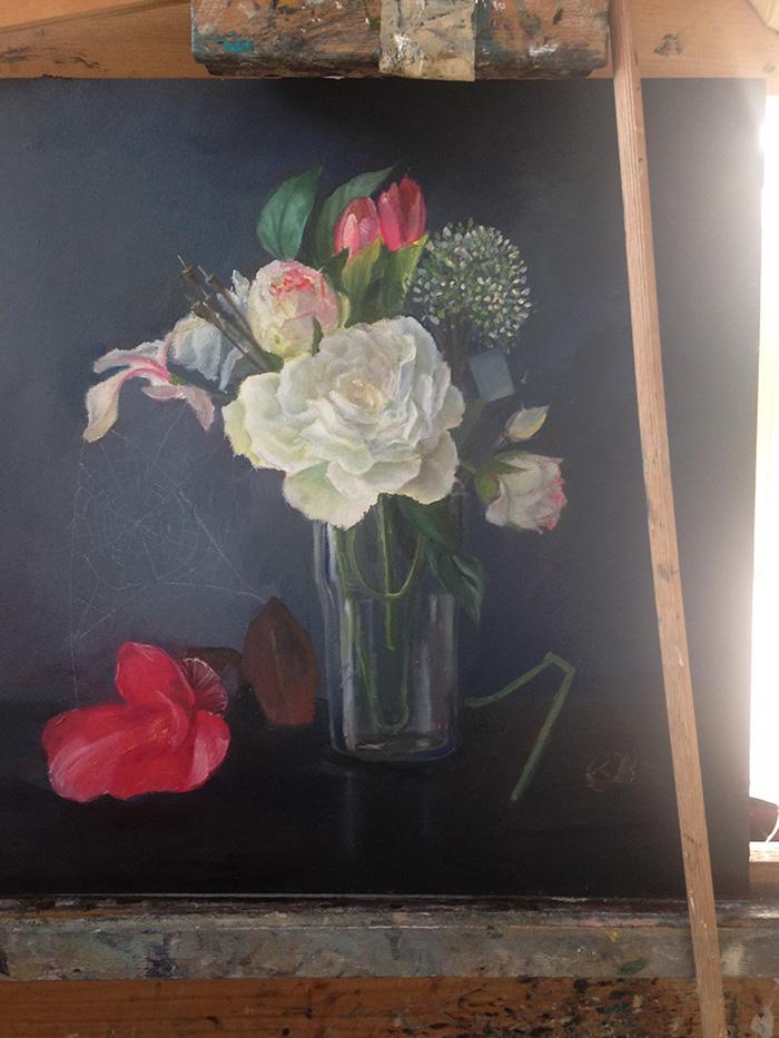 luiheid 7 zonden begin van het schilderij