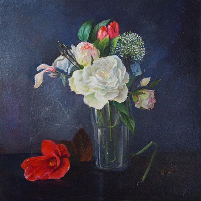 luiheid 7 zonden bloemstilleven, realism