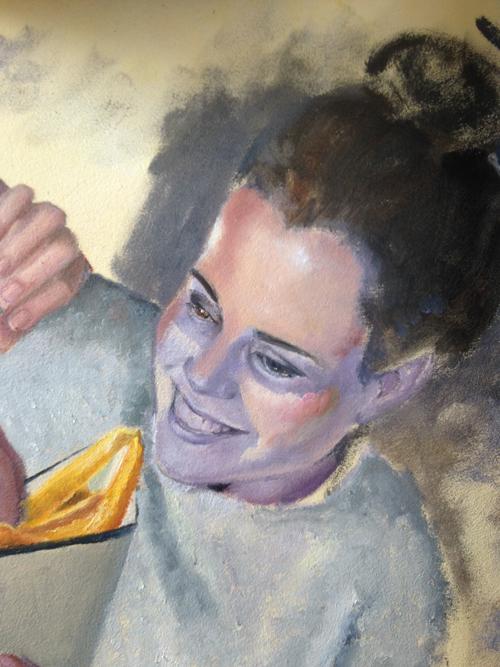 onderschildering Desiree Verkerk Portret