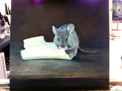 proces muis eet geld