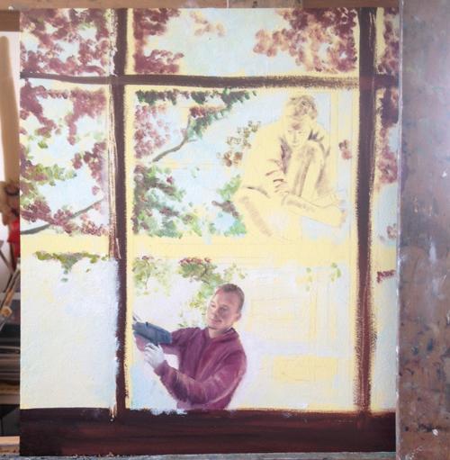 Proces schilderen Desiree Verkerk