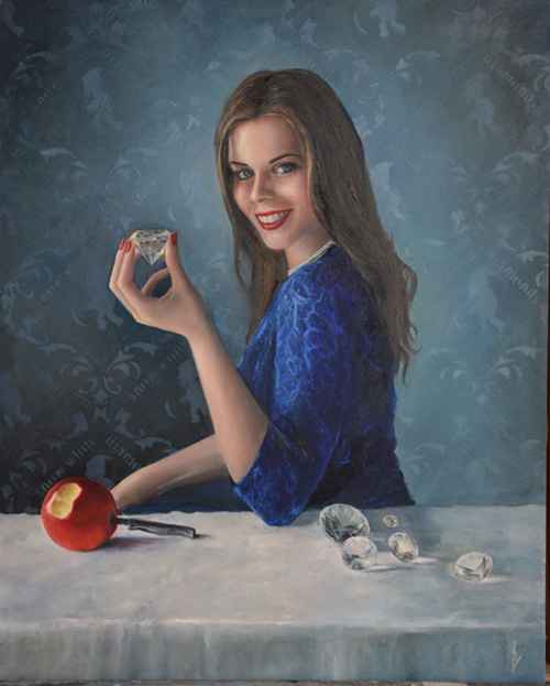 Show White, painting, realism