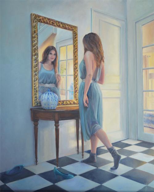 Realistisch portret in opdracht schilderij olieverf