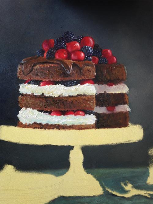 Recpet voor de taart van het schilderij zoete wraak