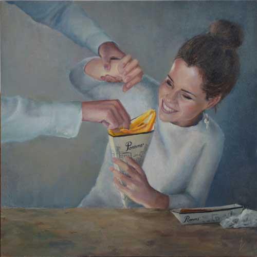 schilderij 7 zonden: Vraatzucht/ Desiree Verkerk