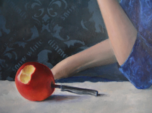 detail snow white painting